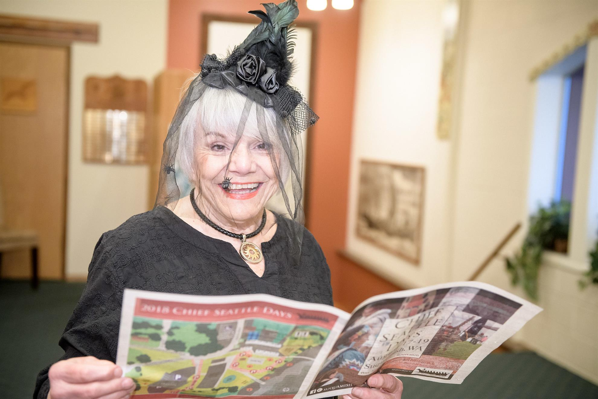 Hat Day winner Frances Malone