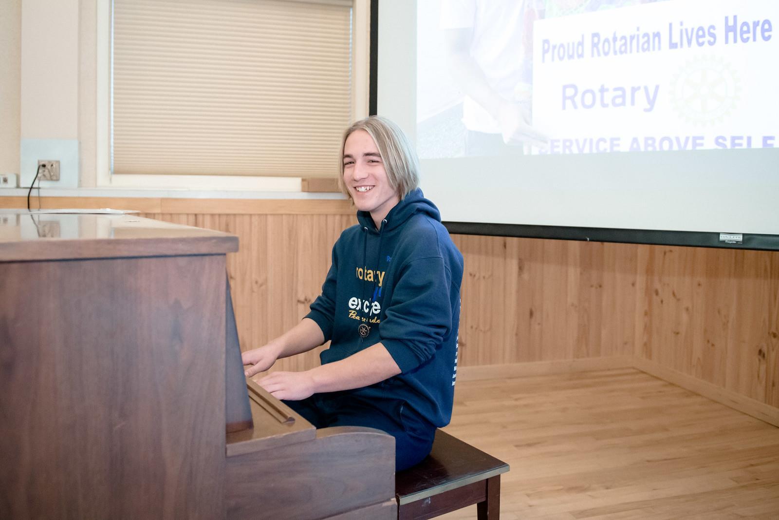 Leo on piano