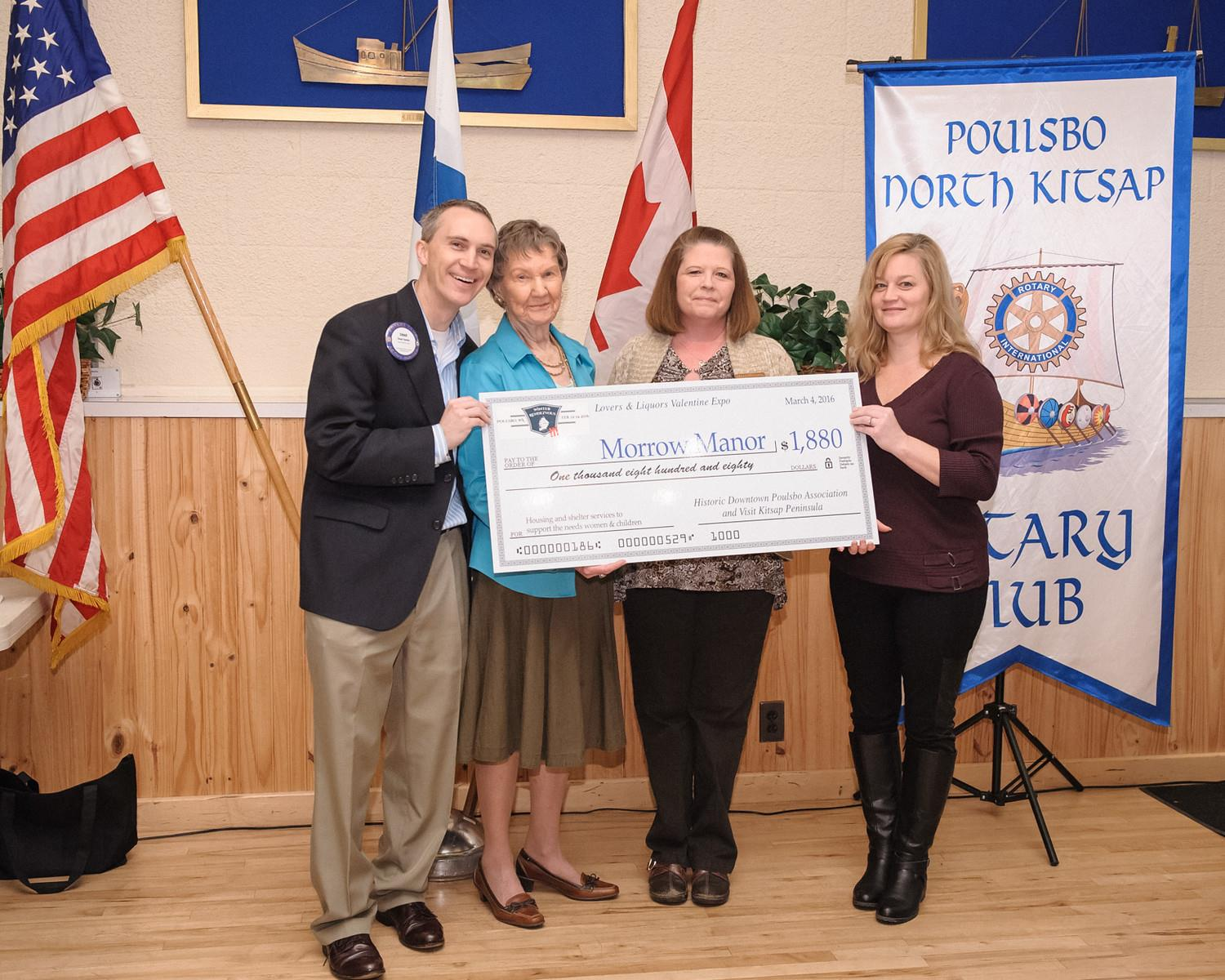 Morrow Manor receives donation from the Historic Downtown Poulsbo Association and Visit Kitsap Peninsula