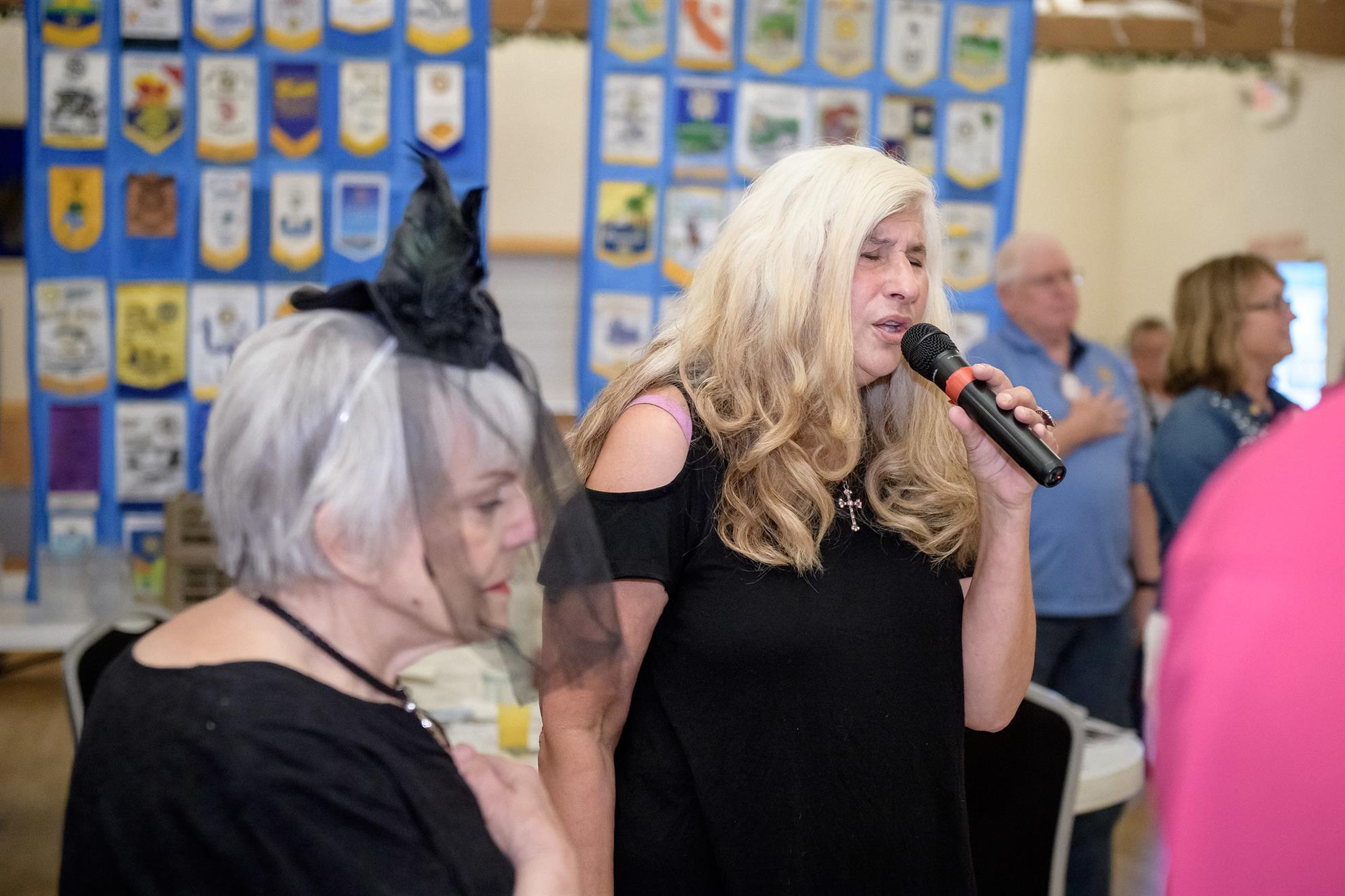 Lynn Ferguson sings the Star Bangled Banner