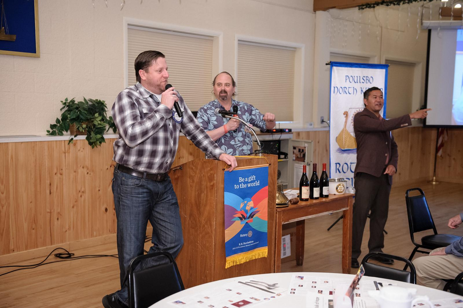 Aaron Murphy leads Wine Auction Fundraiser