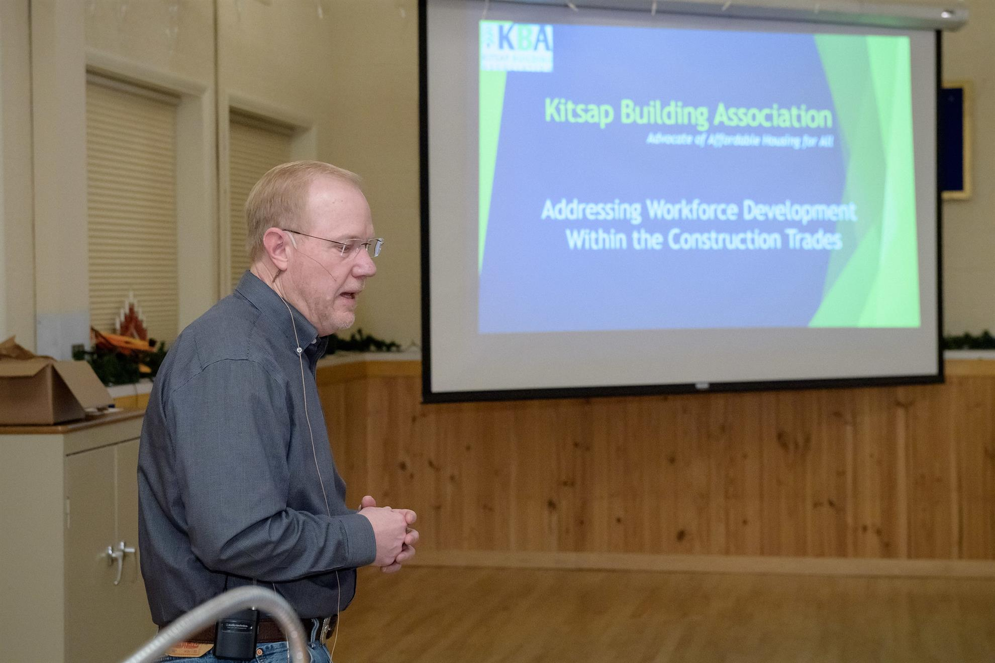 Russ Shiplet of the Kitsap Homebuilder's Association