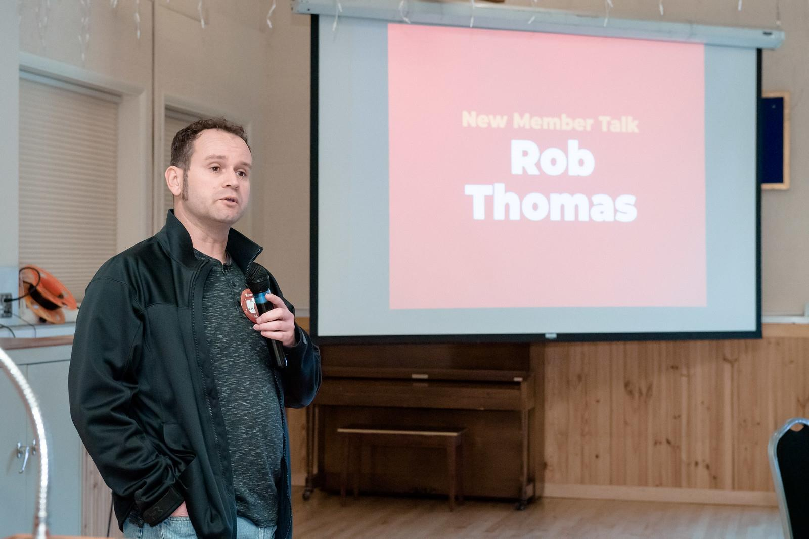 New Member Talk – Rob Thomas