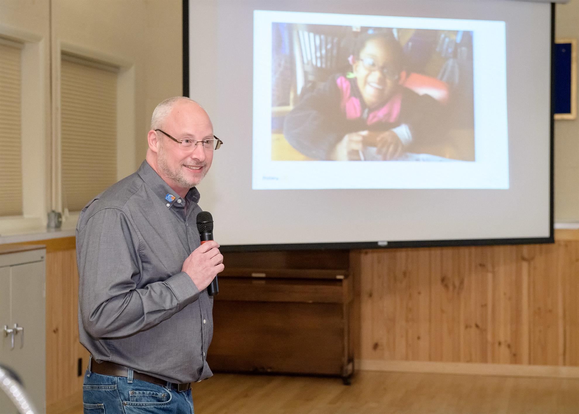 Presentation by Poulsbo Rotary President Tim Nichols