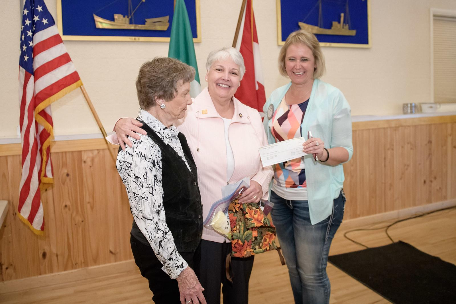 Check presented to Poulsbo's Days for Girls