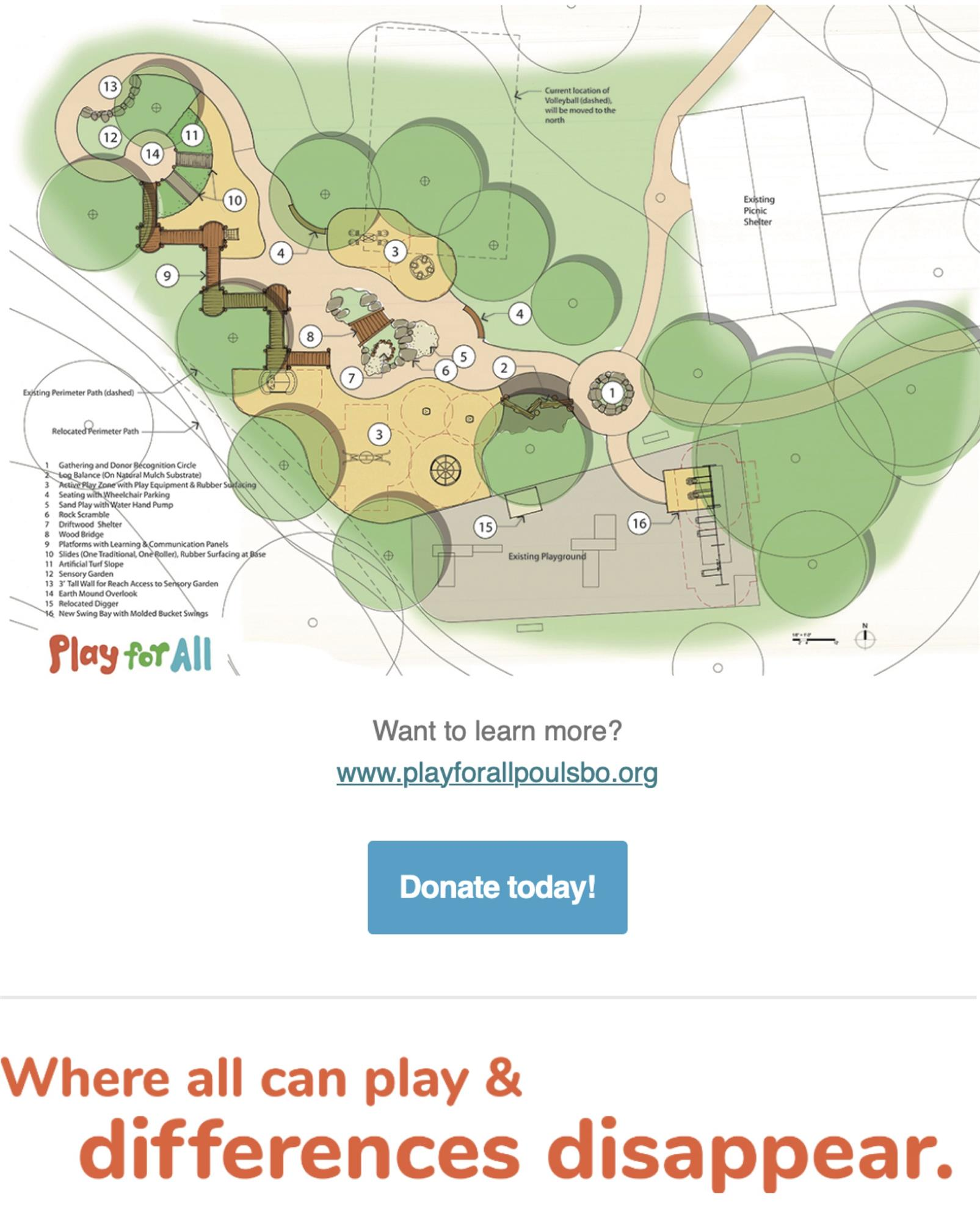 PlayforAll playground layout at Raab Park