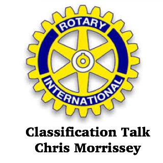 Chris Morrissey presents his classification talk