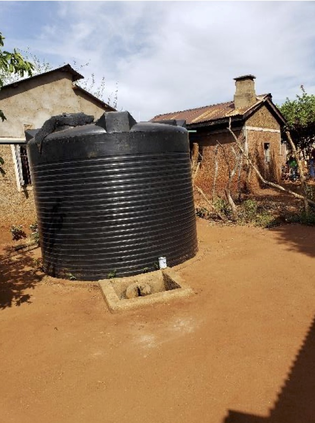 Water Tank installed on site