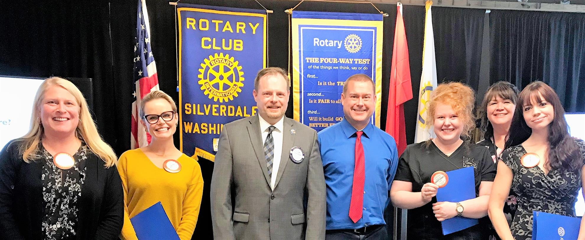 Four New Members Inducted into the Rotary Club of Silverdale