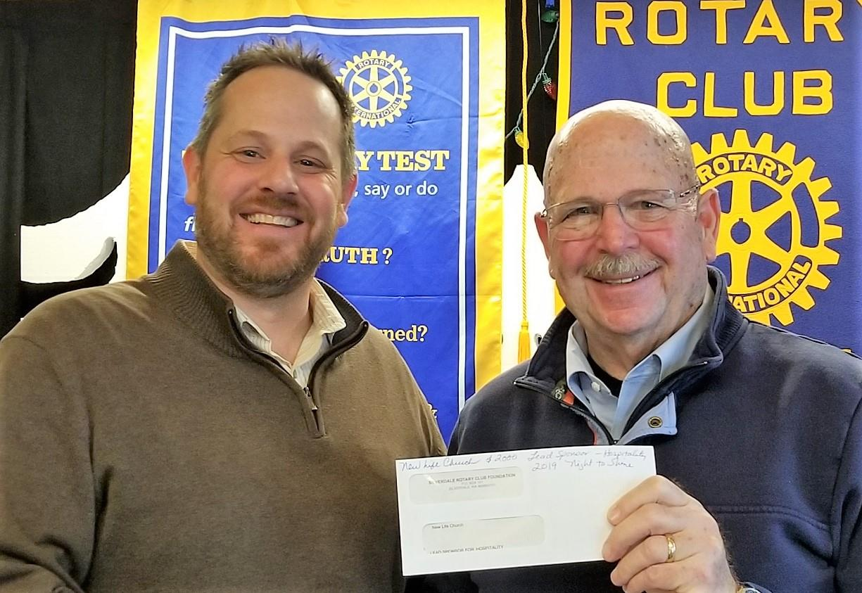 d389e7535e103 Our club presented Josh Hinman (pictured on left with Rotarian Steve  Slaton)