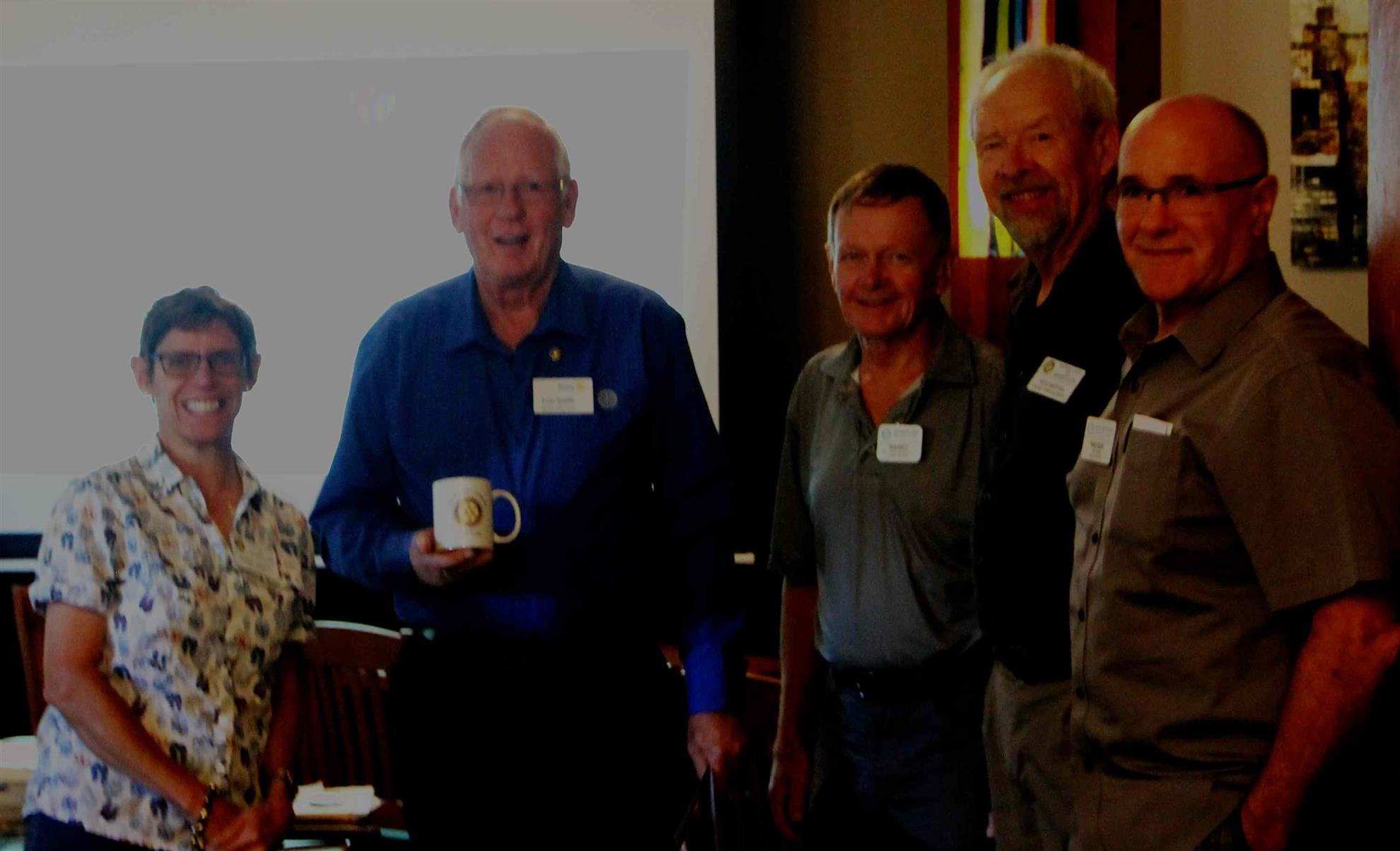 Tom Smith with Membership Committee - August 22, 2017