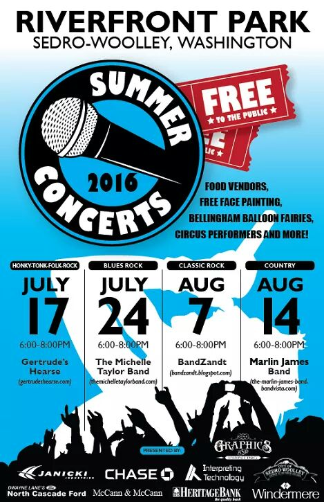 Riverfront Park 2016 Summer Concert Series | Rotary Club of Sedro