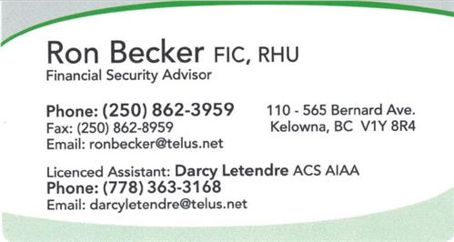 Ron Becker RHU