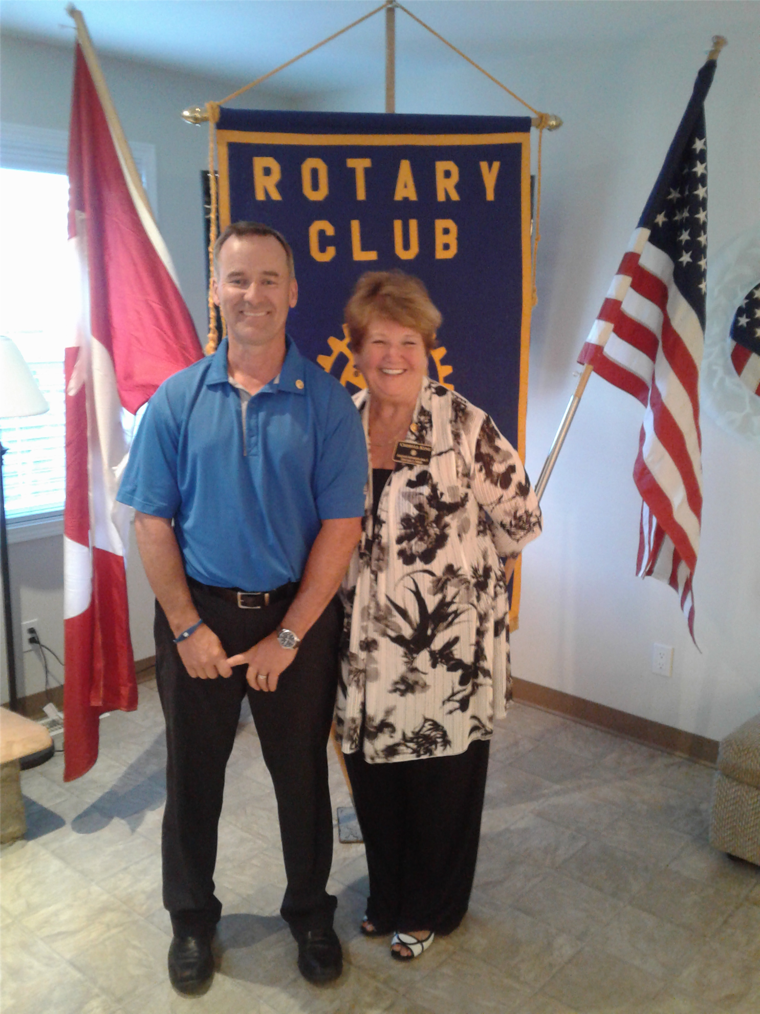 871ea4dce Jeff Duguid our new President of Rotary of Osoyoos with Cheryle King  Assistant Govenor of Area 7