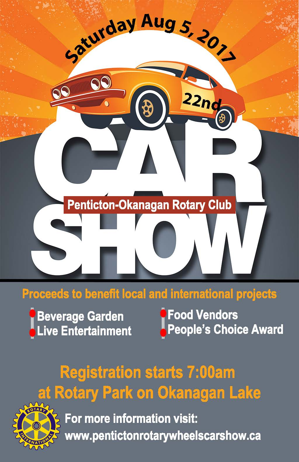 Car Show Rotary Club Of Penticton Sunrise - Car show sponsorship levels