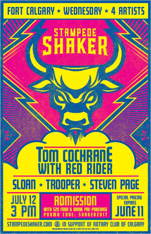 Stampede Shaker Special Ticket Offer The Rotary Club Of