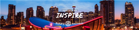 Calgary Skyline Saddledome Inspire Banner
