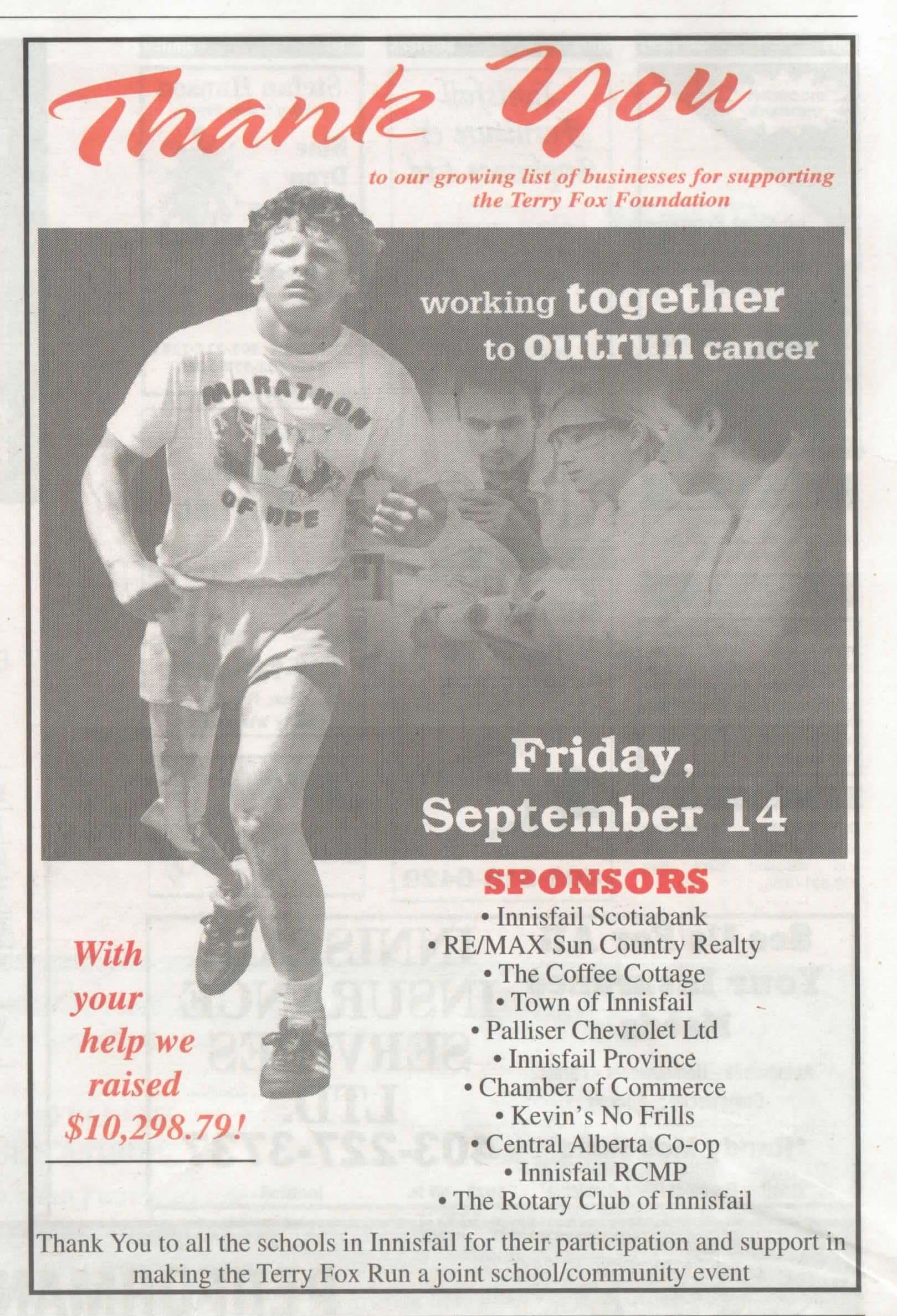 home page rotary club of innisfail province oct 9 2012 thank you terry fox run supporters