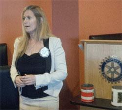 Sally Sipos speaks to club