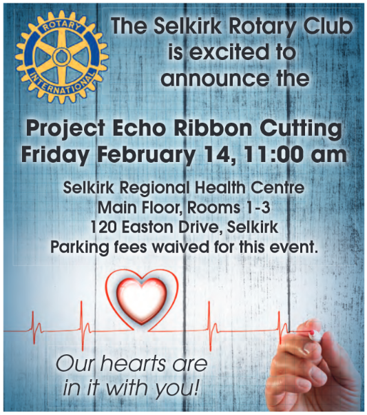 Ribbon Cutting Project Echo February 14, 2020 Selkirk Regional Health Centre