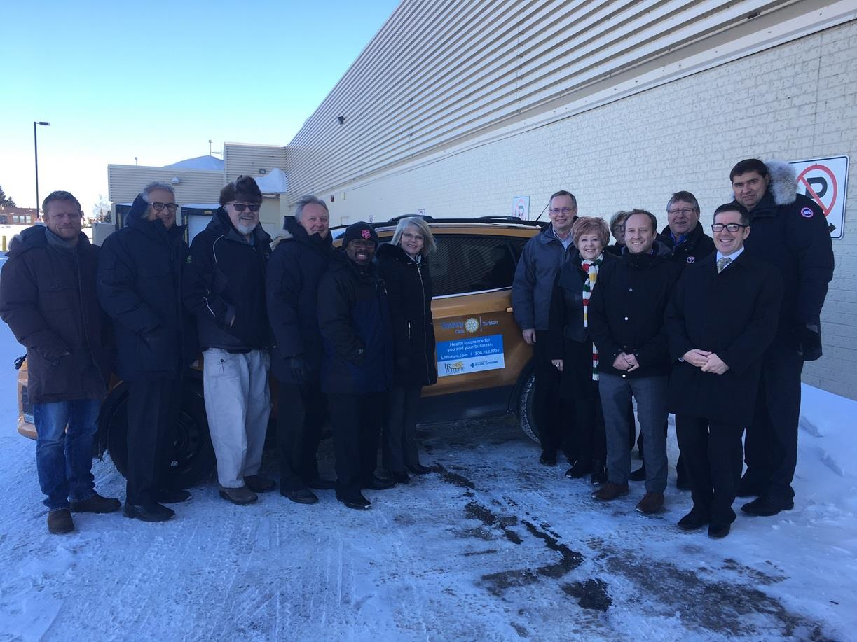 The Rotary Club of Yorkton with Andrew Sedley and the SIGN Seniors Mobility Vehicle