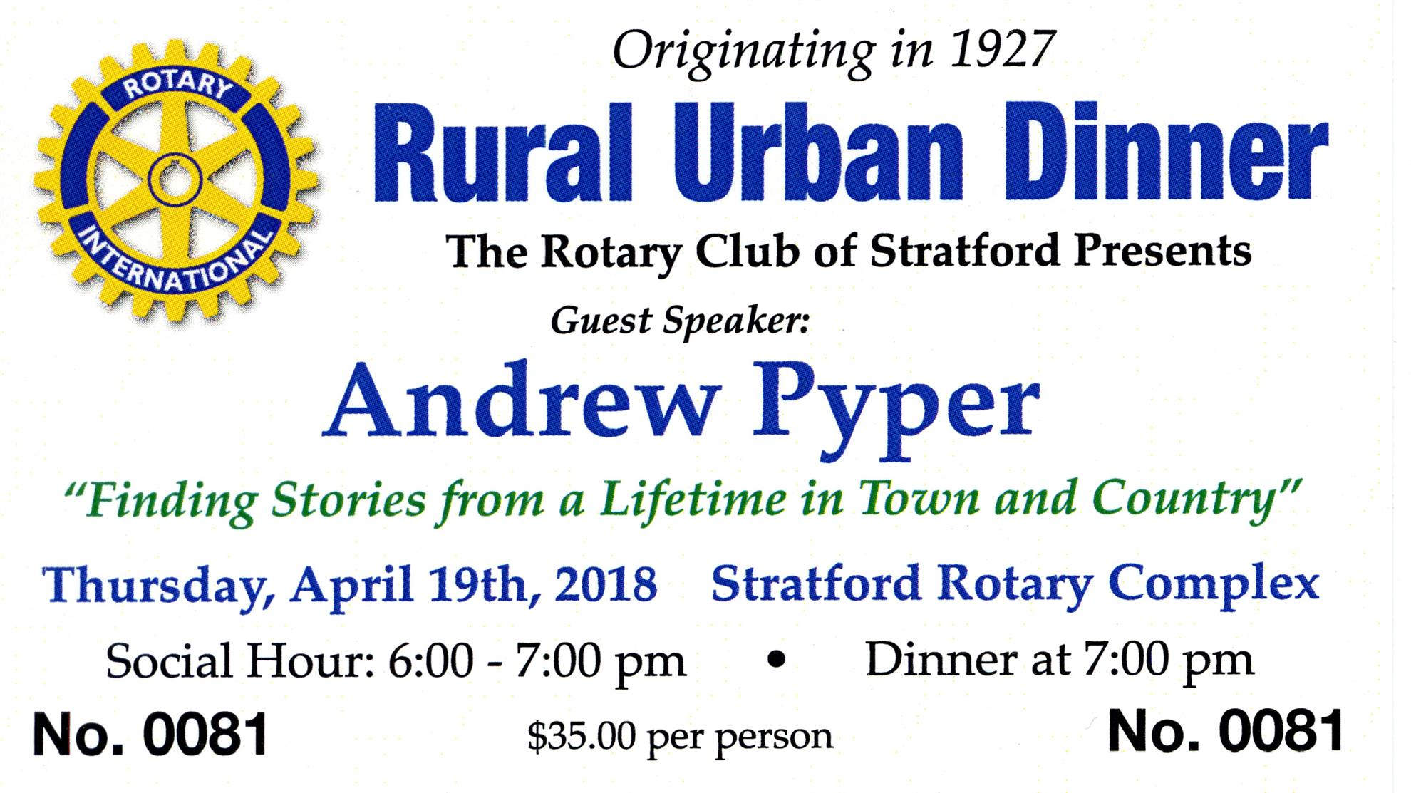 7d958daffb47 Stratford Rotary Club Rural Urban Night