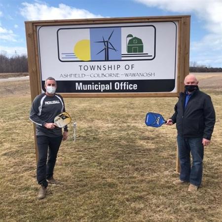 Mayor Glen McNeill & Mark Coulthard