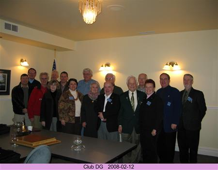 Club Members 2008 with District Governor