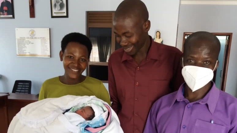 First Baby in the Maternity - Rushooka Maternal Health Clinic - Uganda