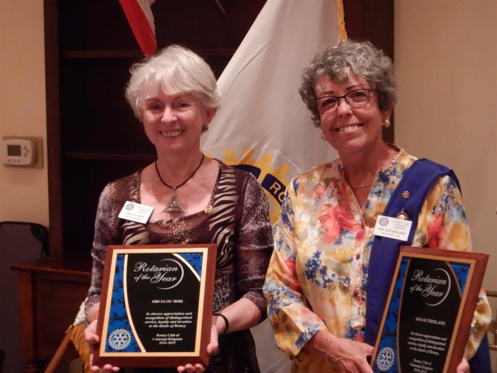 Rotarian of the Year winners Ana and Greta