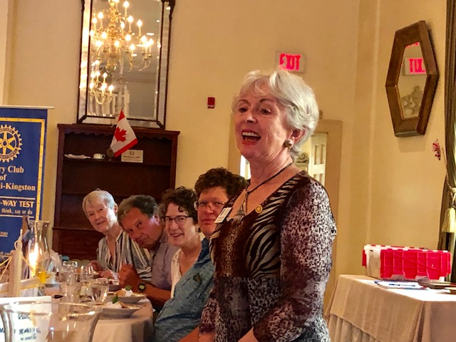 Outgoing Rotary Foundation Director Greta