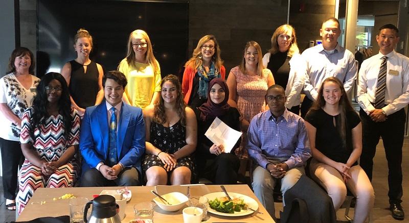 High School bursary recipients at the Rotary Club of Ottawa South.