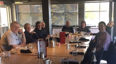 Some members of Rotary Club of Ottawa South enjoying lunch and conversation.