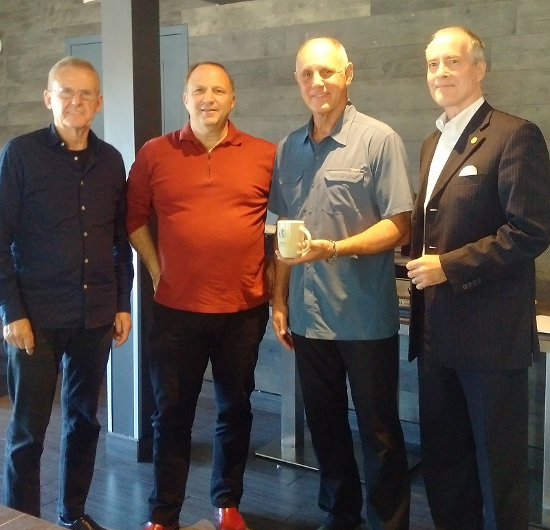 Jean-Yves Theriault at Rotary Club of Ottawa South with Alex, Luigi and Scott