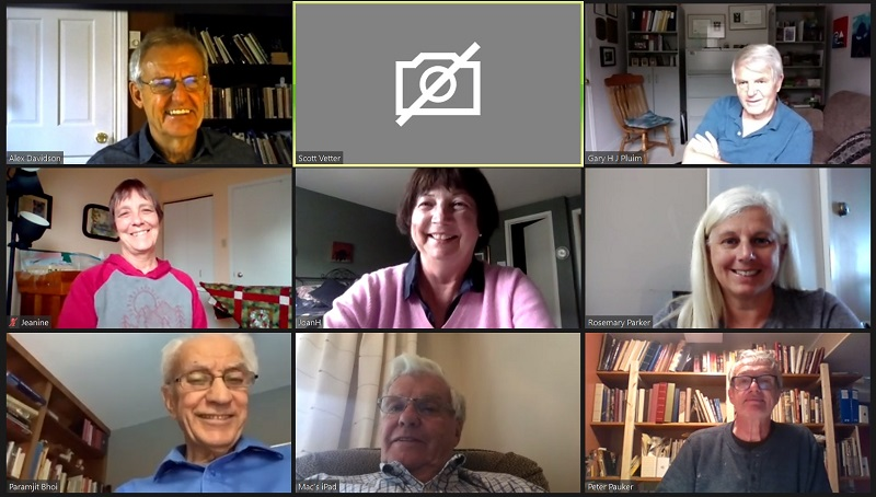 Screen capture of June 3 Zoom meeting for Rotary Club of Ottawa South.