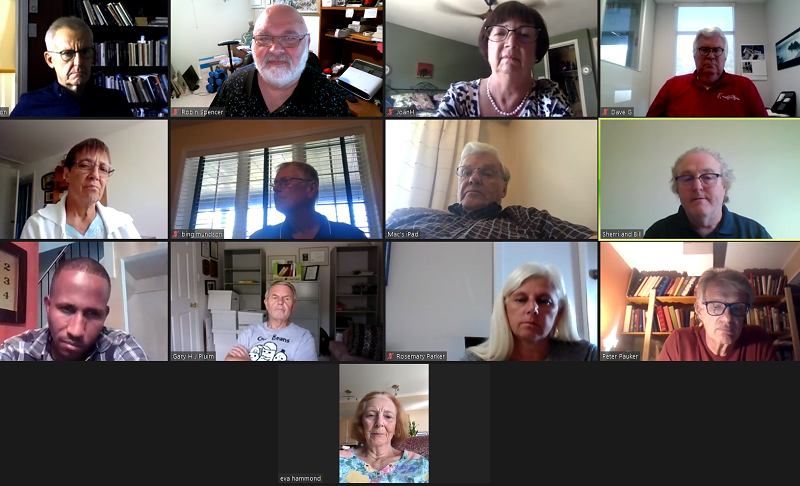 Screen capture of Rotary Club of Ottawa South August 19 Zoom meeting.