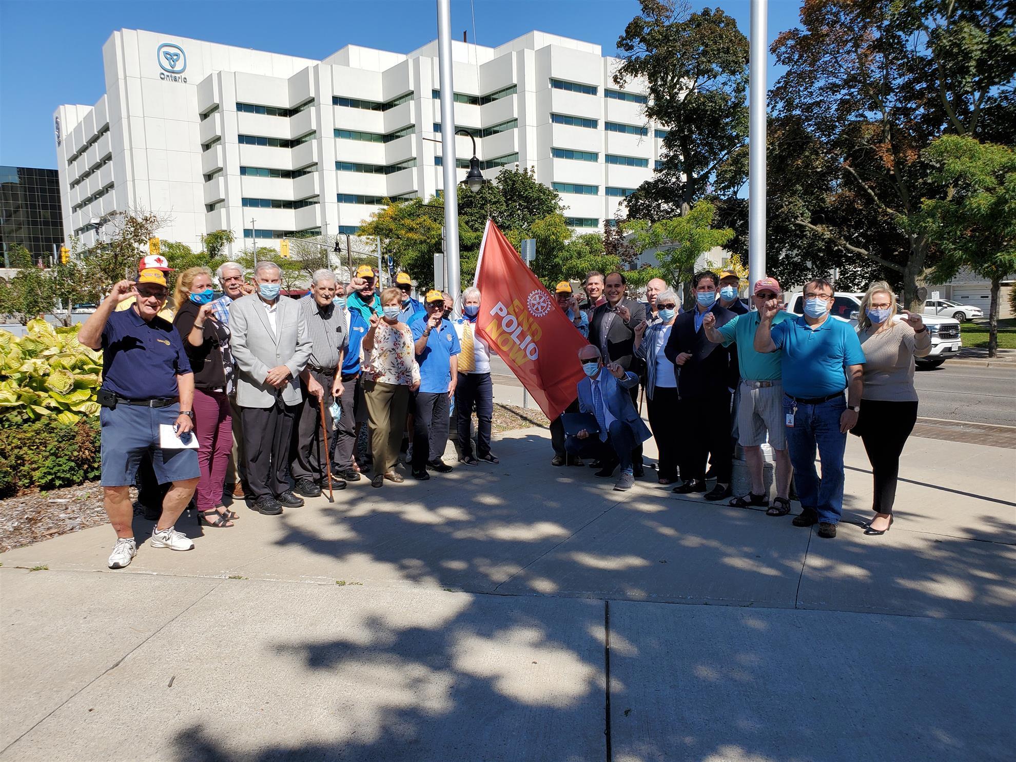 Rotary World Polio Day Flag Raising