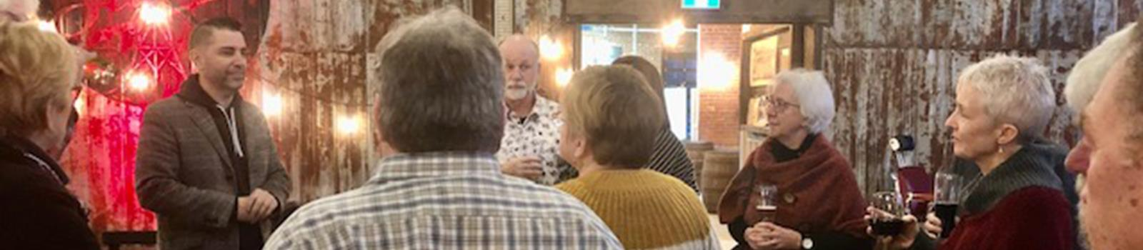 Members of the Rotary Club of Quinte Sunrise enjoy some fellowship