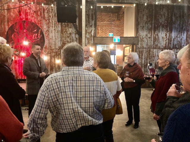 Members from Quinte Sunrise Rotary enjoy some fellowship at Signal Brewery