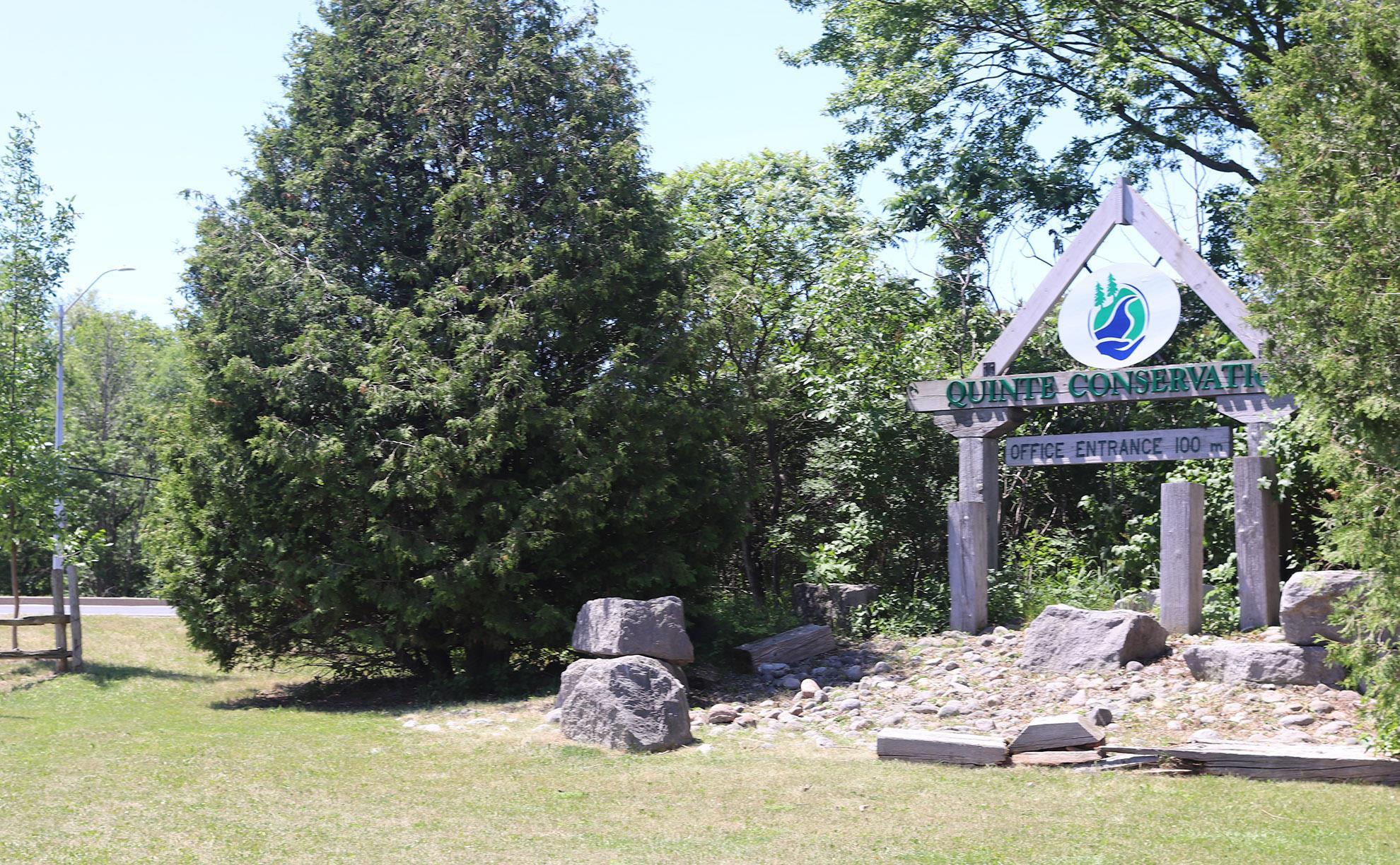 Quinter Conservation Area sign near entrance