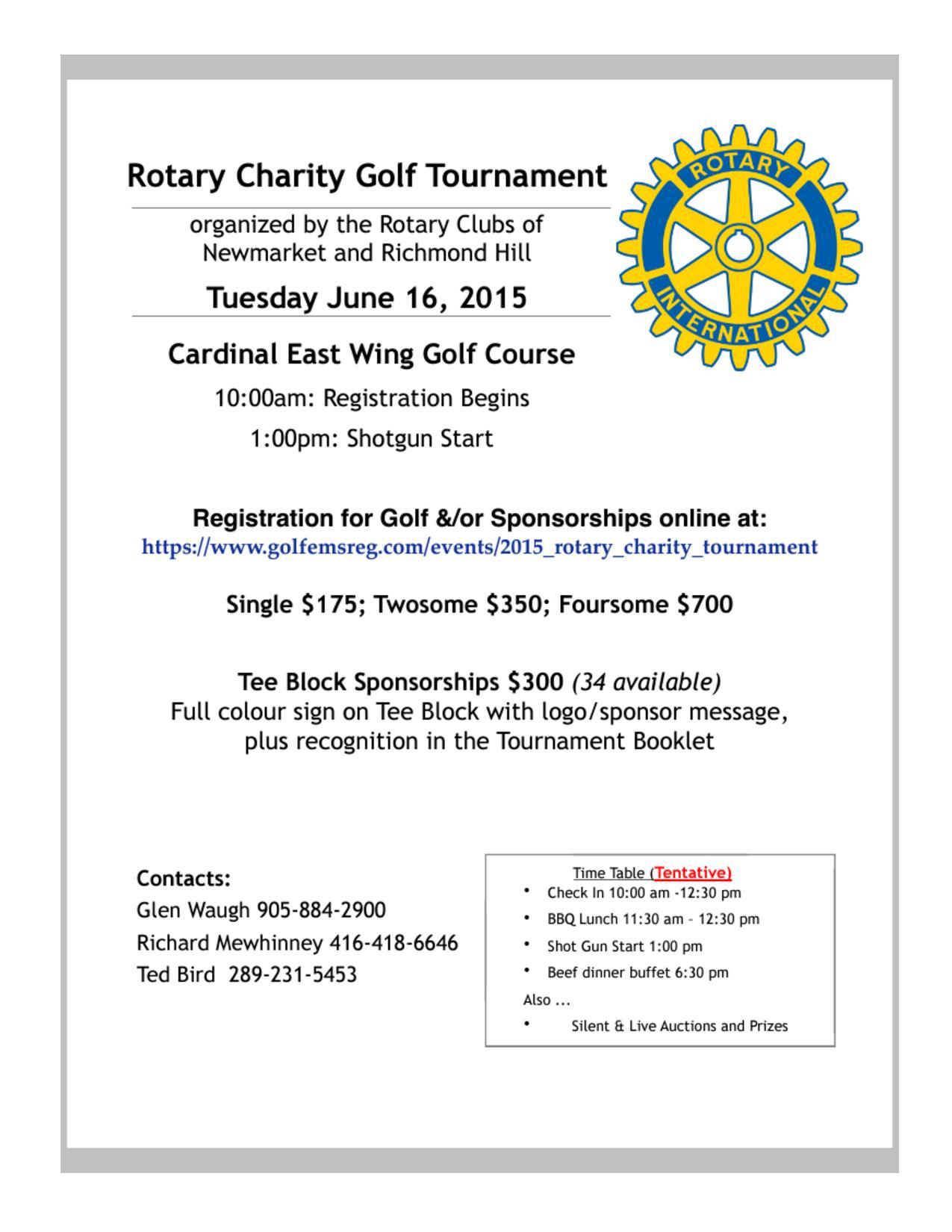 how to run a golf tournament fundraiser