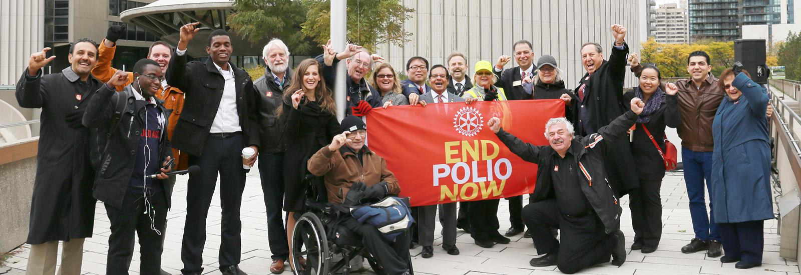 We participate in large international projects like the global eradication of polio