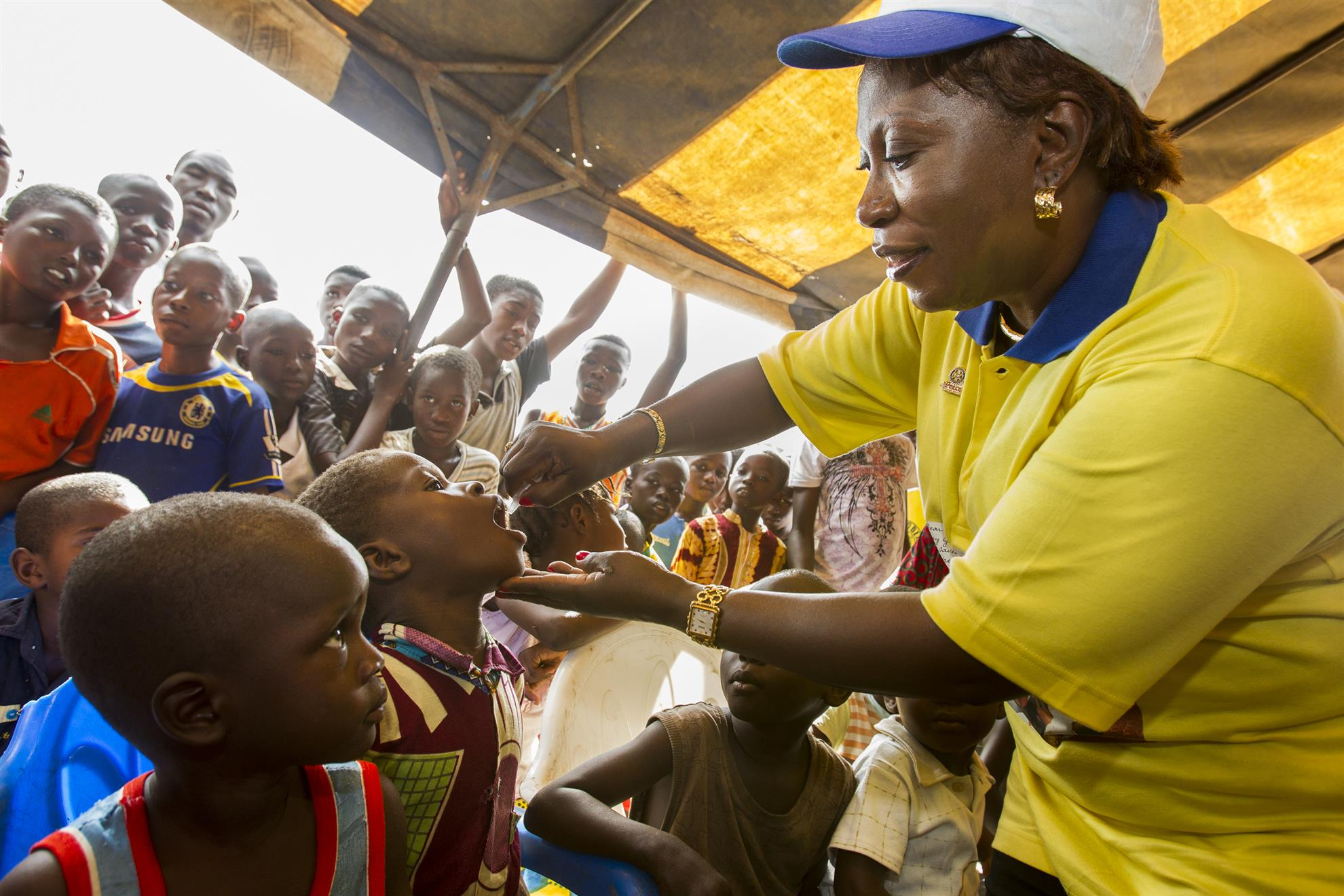 Polio mainly affects children under age 5.