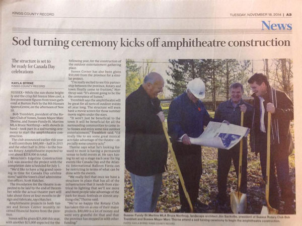 Amphitheatre Sod Turning