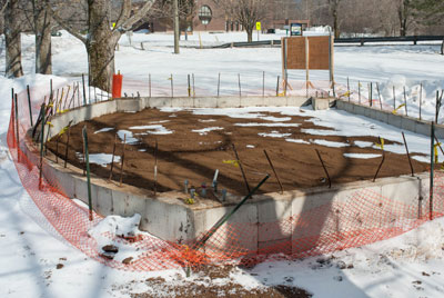 Amphitheatre Foundation in Place