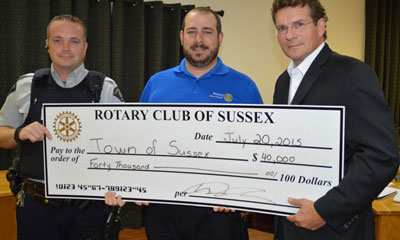 Cheque Presentation to Town of Sussex
