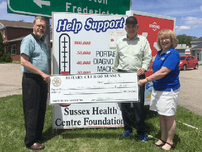 Donation to Sussex Health Centre Foundation