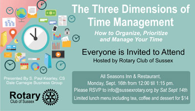 Three Dimensions of Time Management