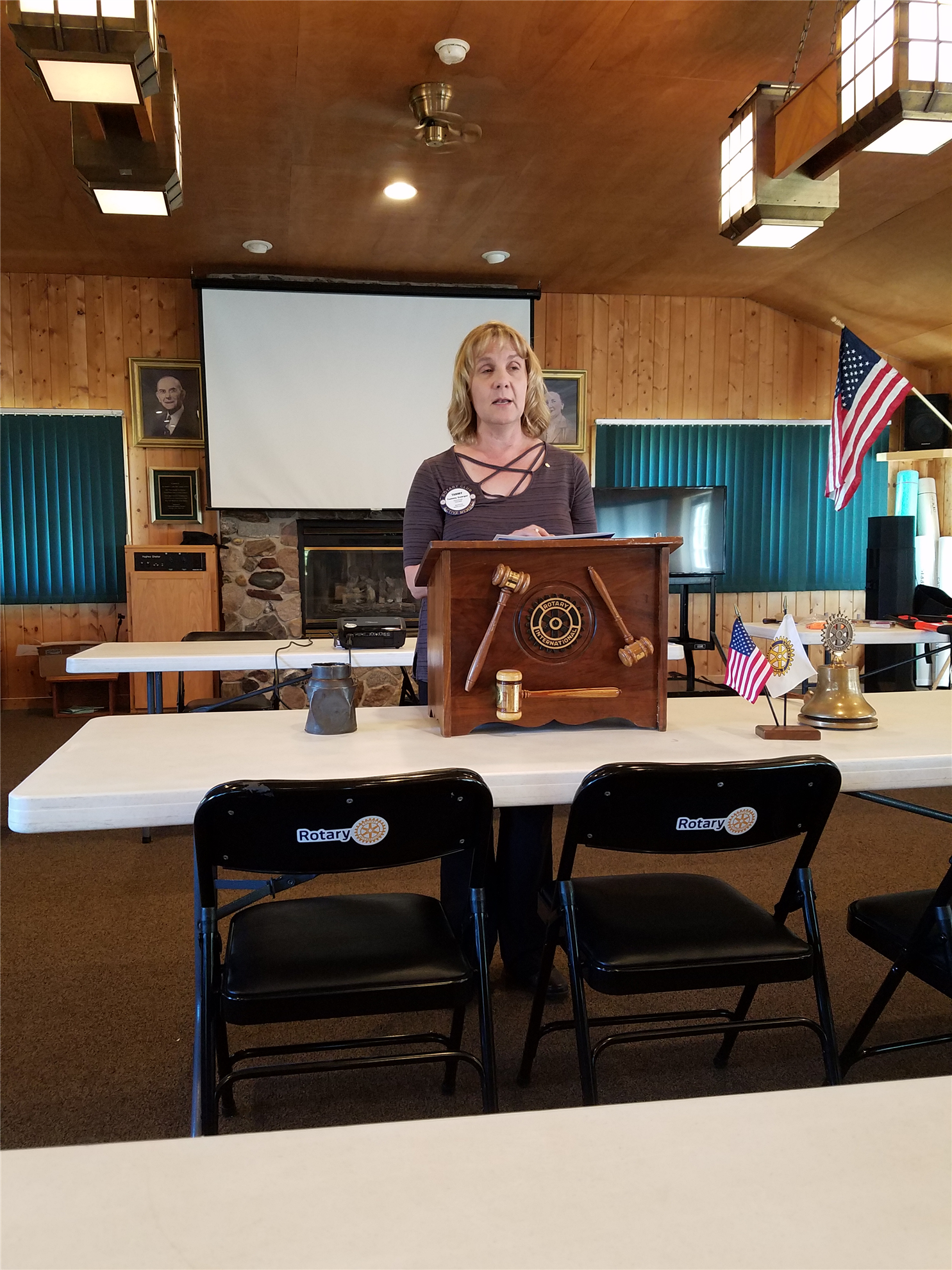 New Member Tammy Goerger is inducted as Rotarian