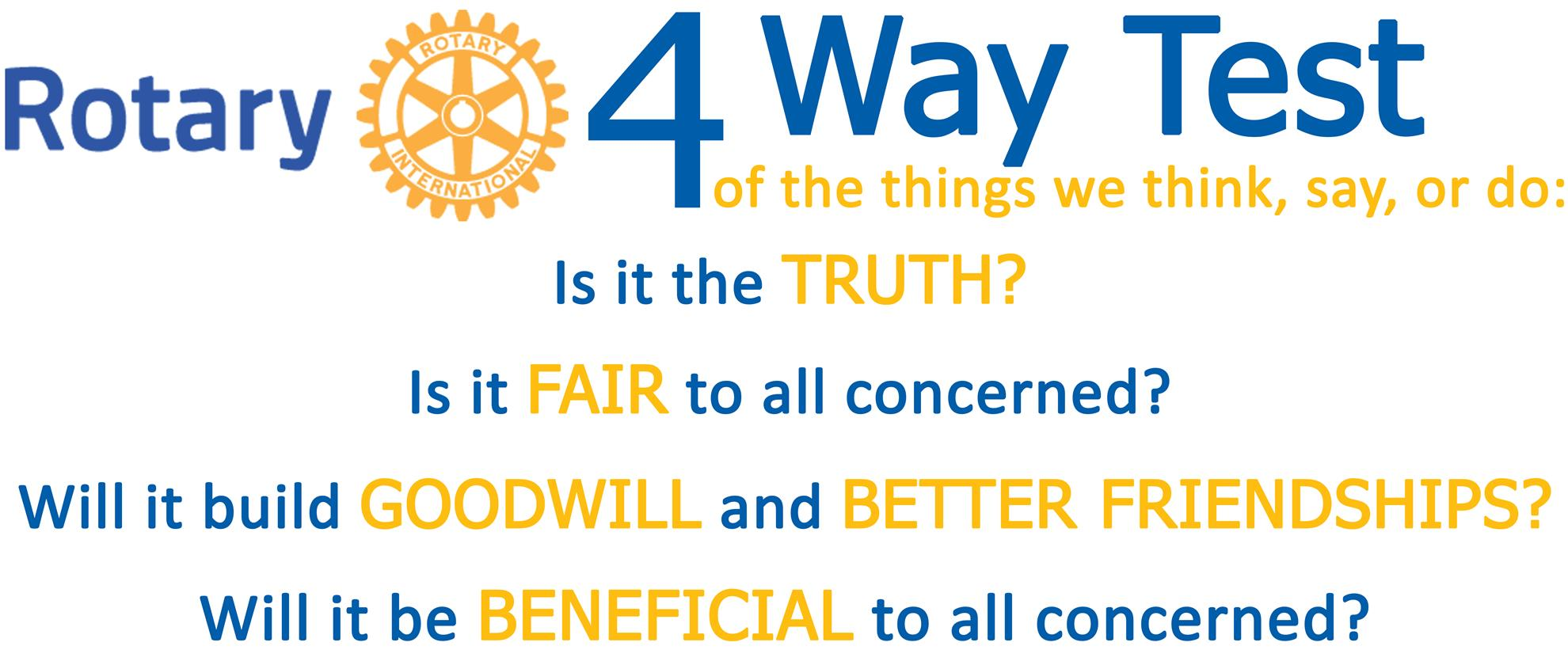 Four-Way Test   Rotary Club of North Delta